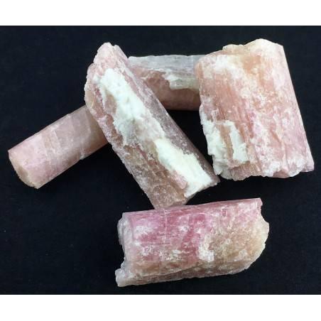 * MINERALS * Pink TOURMALINE Rough Beryl Specimen Chakra Reiki Gemstone-2