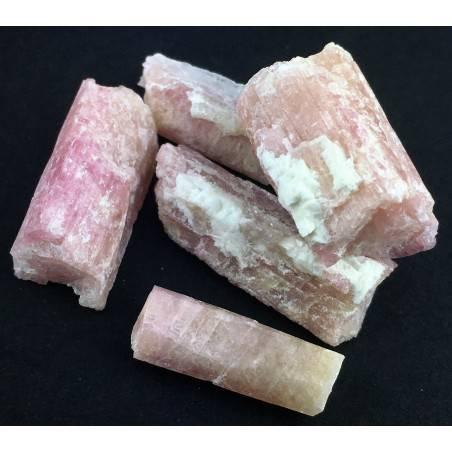 * MINERALS * Pink TOURMALINE Rough Beryl Specimen Chakra Reiki Gemstone-3
