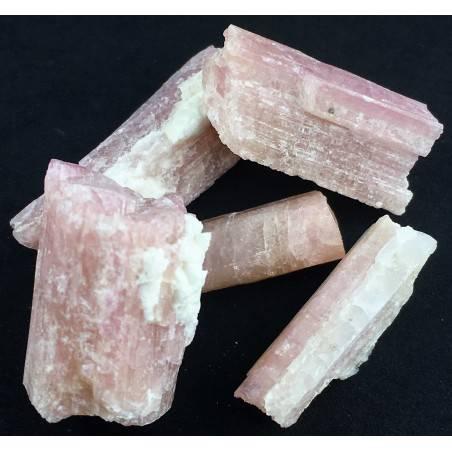 * MINERALS * Pink TOURMALINE Rough Beryl Specimen Chakra Reiki Gemstone-4