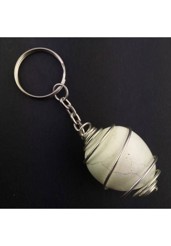 keychain Lemon Crisoprasio Crystal Tumbled Crystal Healing Chakra Reiki Zen-1