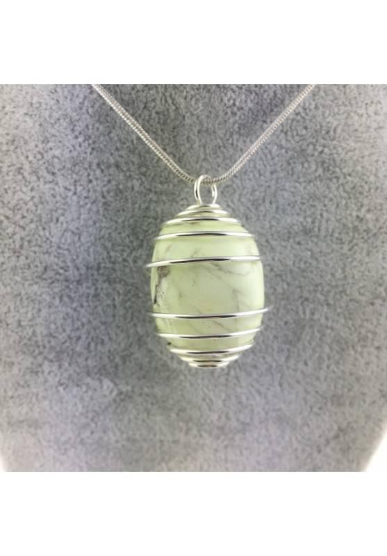 Pendant Lemon Crisoprasio Crystal Tumbled Crystal Healing High Quality A+-1