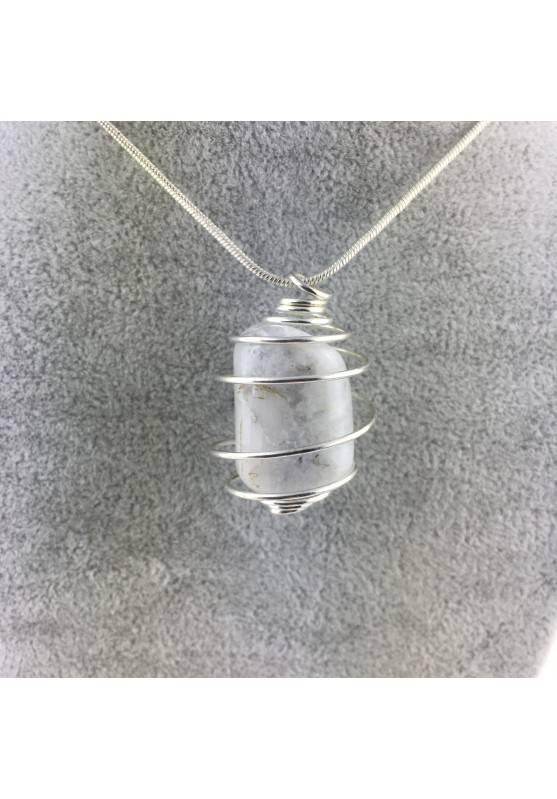 Pendant naclace Crystal Tumbled White Labradorite Moon Stone Chakra Reiki Zen-1