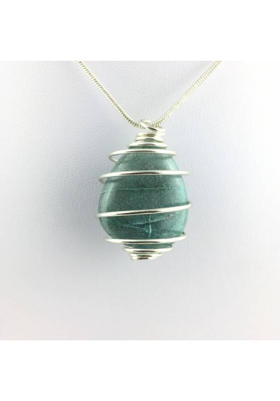 Pendant CHRYSOCOLLA Tumbled Medium necklace High Quality Crystal Healing-1