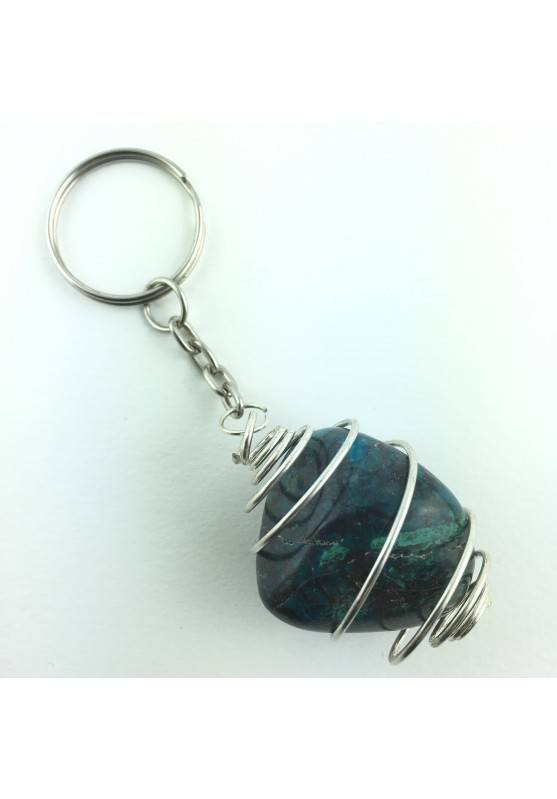 keychain CHRYSOCOLLA Tumbled Big High Quality Chakra Reiki Crystal Healing-1