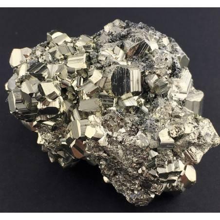 * MINERALS * Pentagonal Pyrite from Perù EXTRA Quality Specimen Reiki 362g-1