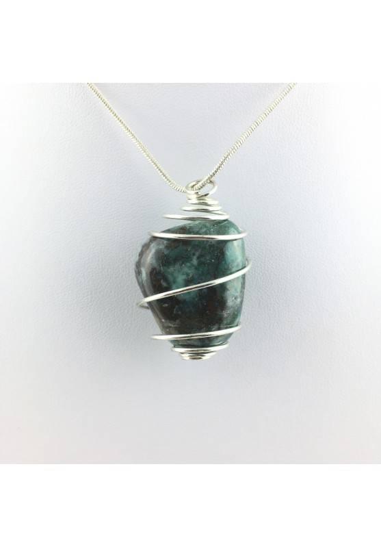 Pendants CHRYSOCOLLA Tumbled Necklace Meditation Chakra Reiki Crystal Healing-1