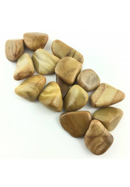 Yellow Jasper Tumbled Stone Medium Crystal Chakra MINERALS Crystal Healing Reiki-1