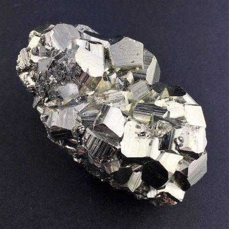 * MINERALI * PIRITE Pentagonale del Perù Qualità Extra 142g 32x55x37mm Chakra-1