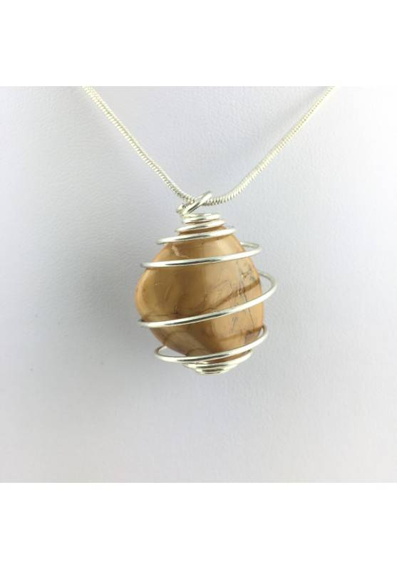 Pendant Yellow Jasper Tumbled Stone  necklace Crystal MINERALS Crystal Healing-1