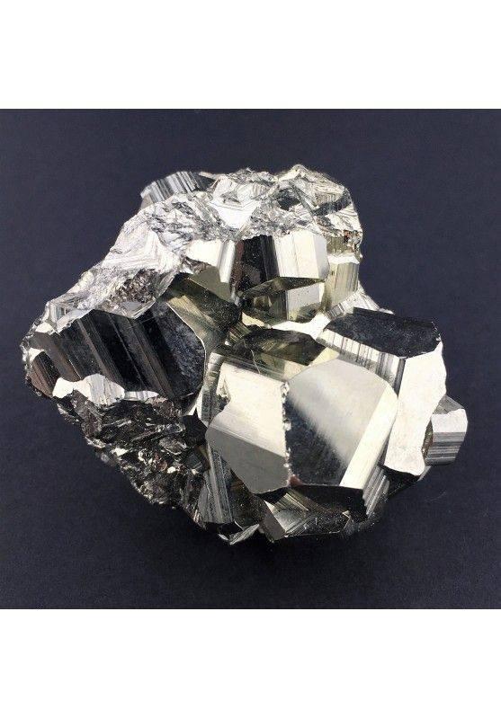 * MINERALI * PIRITE Pentagonale del Perù Qualità Extra 180g 43x46x52mm Reiki Zen-2