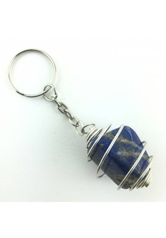 keychain LAPIS LAZULI Tumbled Stone Minerals Crystal-Therapy Healing-1