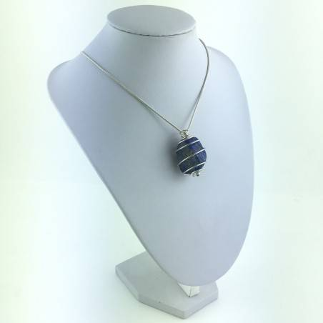 Pendant LAPIS LAZULI Tumbled Stone Necklace Minerals Crystal-Therapy Healing-4