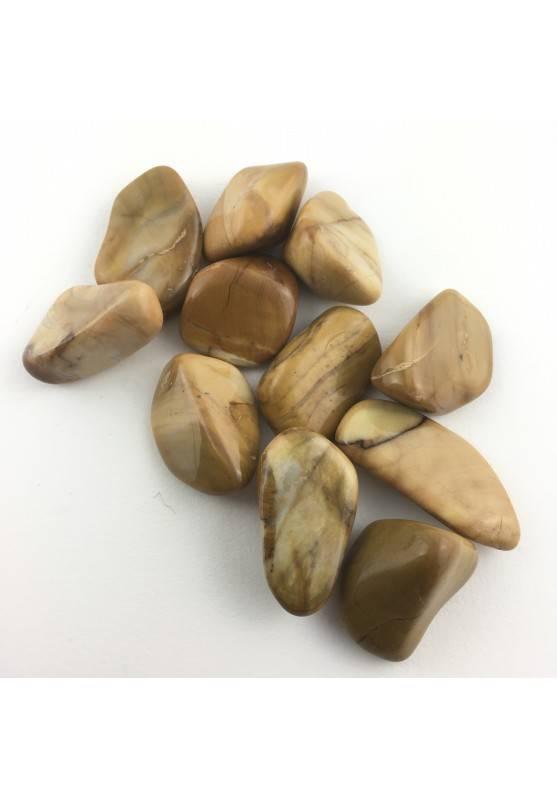 DIASPRO GIALLO MARRONE Burattato Alta Qualità Minerali Meditazione-2
