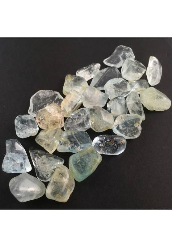 MINERALS *  TOPAZ Tumbled Blue Light blue Crystal healing tumblestone-1