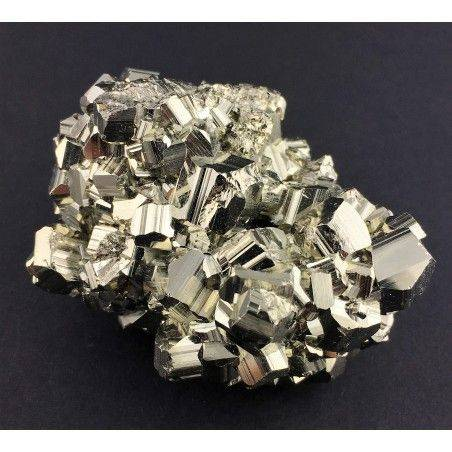* MINERALS * Pentagonal Pyrite from Perù EXTRA Quality Crystal Healing 180g Zen-1