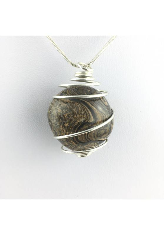 Pendant Stromatolite Stone Tumbled  Necklace MINERALS Stones Mineral Crystal Healing-1