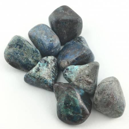 QUANTUM crystal Four Azurite Malachite Chrysocolla Diopside Shattuckite-2