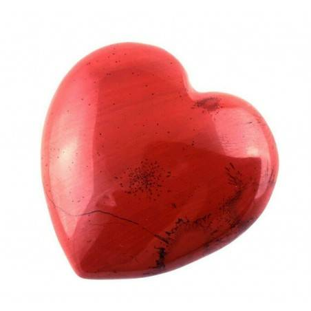 CUORE in DIASPRO ROSSO di Alta Qualità AMORE San Valentino Cristalloterapia Zen-2