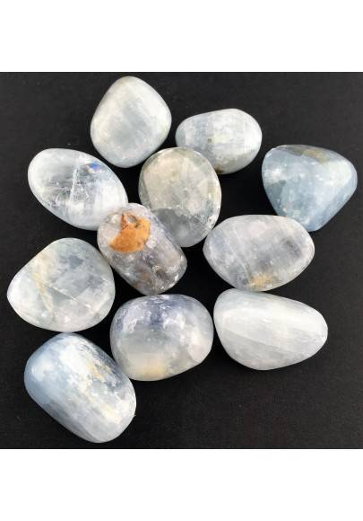 CELESTITE MID Size Tumbled Stone Crystal Crystal Healing MINERALS Chakra A+-1