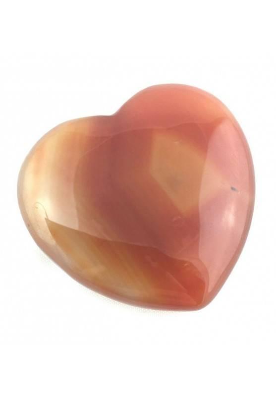 Wonderful HEART in CARNELIAN AGATE LOVE VALENTINE'S DAY Crystal Healing Chakra Zen-1