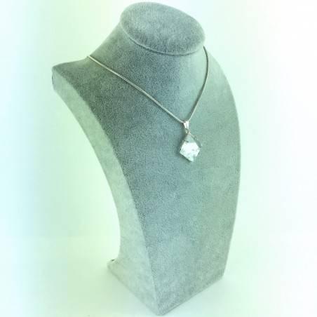 Pendant pyramid HYALINE QUARTZ Rock Crystal Minerals Necklace Crystal Healing-2