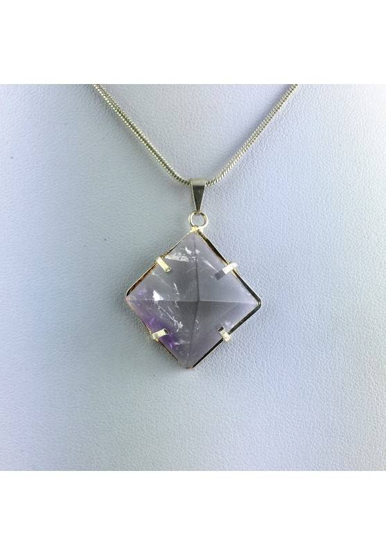 Pendant pyramid AMETHYST Minerals Necklace Crystal Healing-2