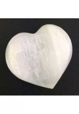 Stupendo CUORE in SELENITE Bianca Pietra degli Angeli AMORE Cristalloterapia Zen-2