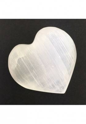CUORE in SELENITE BIANCA Alta Qualità AMORE San Valentino Cristalloterapia Reiki-1