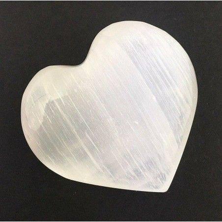 HEART in White Selenite High Quality LOVE VALENTINE'S DAY Crystal Healing Reiki-1