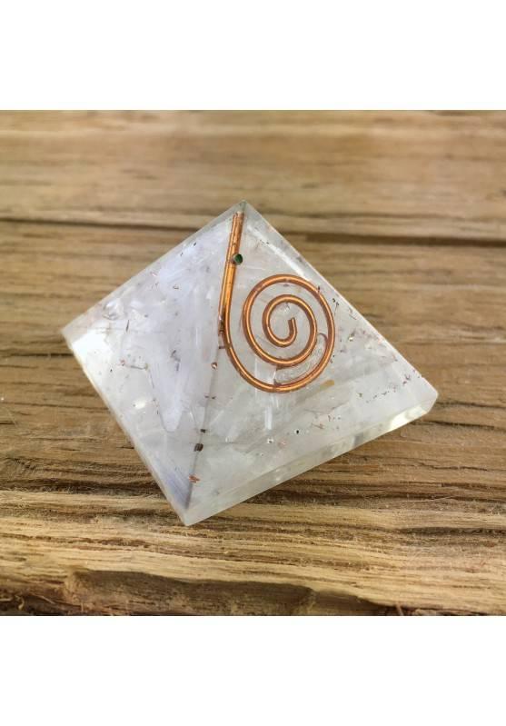 PYRAMID Orgonite with SELENITE Crystal Healing Minerals 18g Chakra Reiki Zen-1