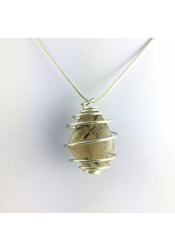 Pendants RUTILATED QUARTZ Minerals EXTRA Necklace Quality A++ Crystal Healing-1