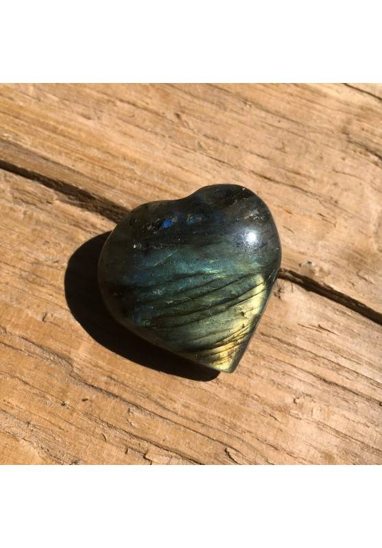 HEART of LABRADORITE Yellow Blue Crystal Healing 13gr Minerals High Quality-1
