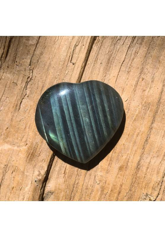 HEART of LABRADORITE Yellow Blue High Quality 12gr Minerals Crystal Healing-1