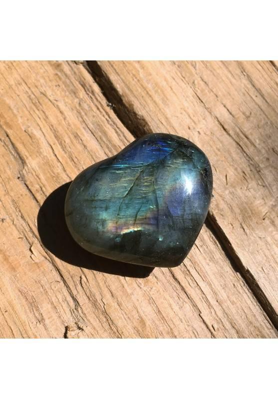 HEART of LABRADORITE Yellow Blue High Quality 14gr Crystal Healing Chakra Reiki-1
