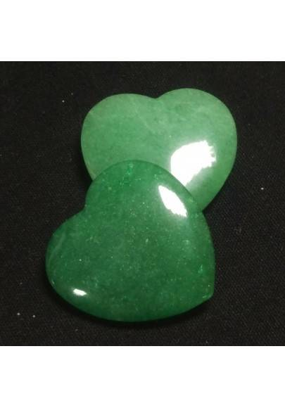 HEART in Green Aventurine MINERALS LOVE Gift Idea Chakra VALENTINE'S DAY Reiki A+-1