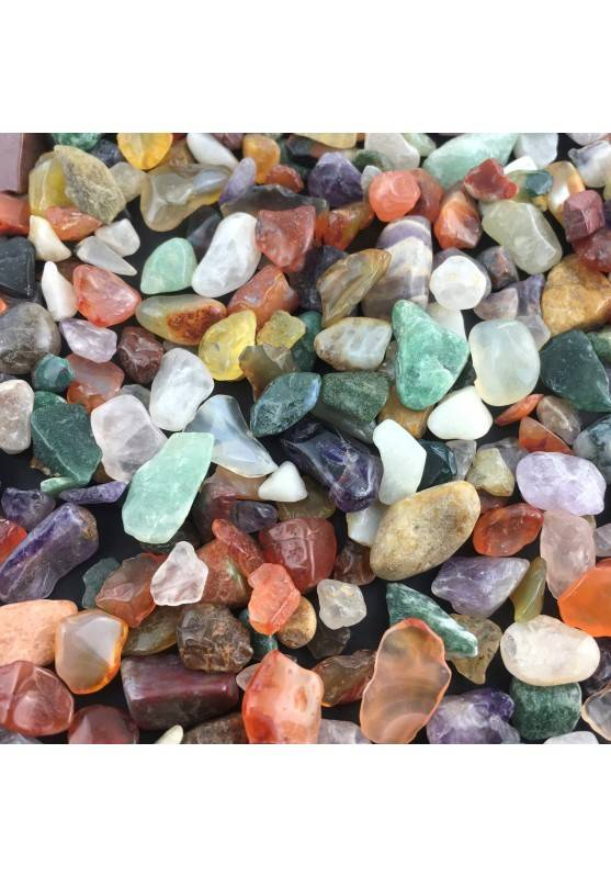 100 Grams Mixed Mineral Tumbled Stone Crystal Healing Minerals-1
