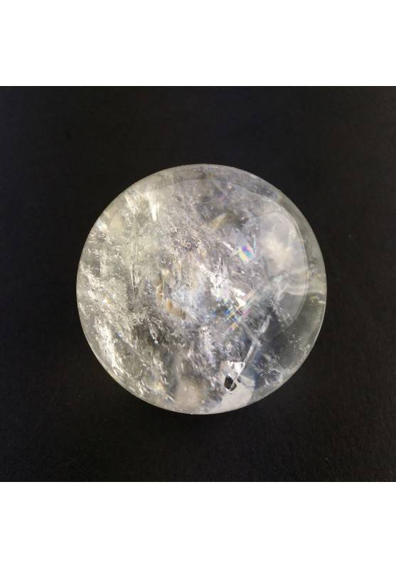 Clear QUARTZ CRYSTAL SPHERE Rock Crystal with Ice 50gr Chakra Reiki-1