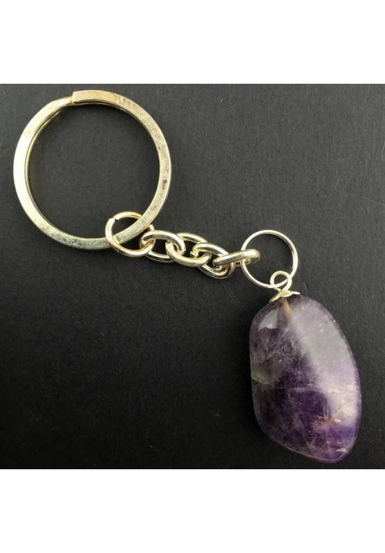Keychain Amethyst Tumbled Crystal Stone Minerals Crystal Healing Chakra Reiki-2