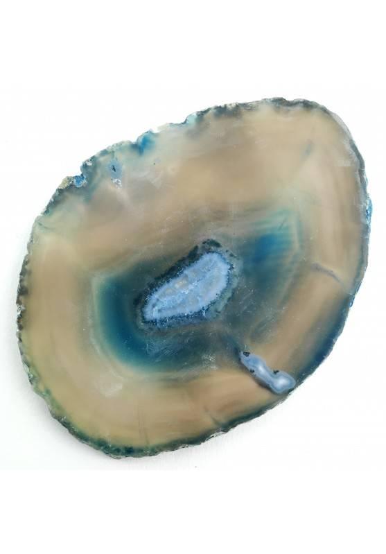 Bellissima Fetta di AGATA Blu Trasparente Collezionismo Cristalloterapia-1