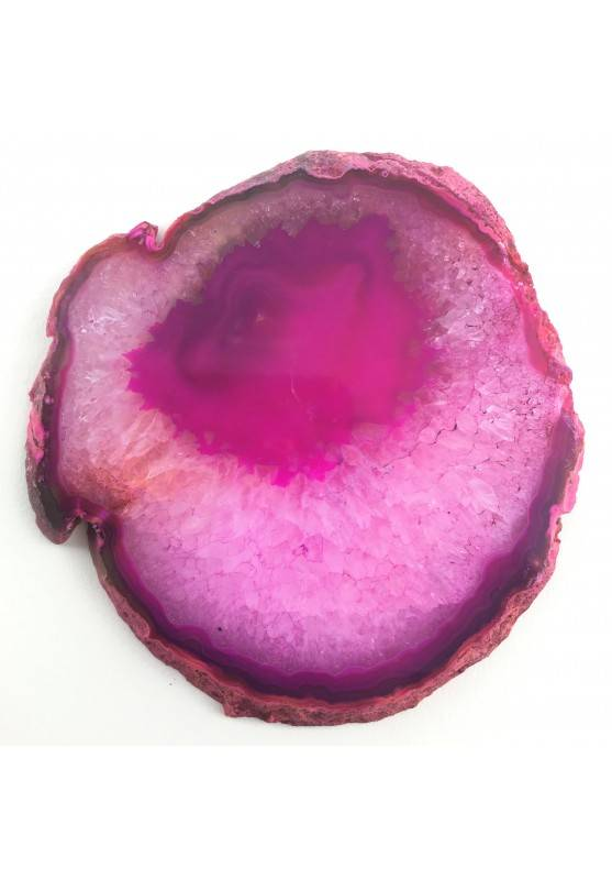 MINERALS * Gorgeous AGATE SLICE transparent Rose Specimen Crystal Healing-1