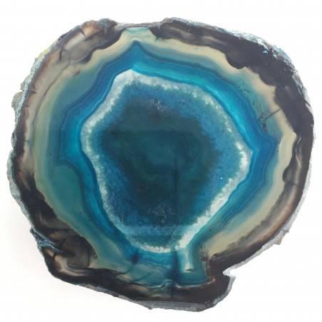 Bellissima Fetta di AGATA Blu Marrone Trasparente Collezionismo Cristalloterapia-1