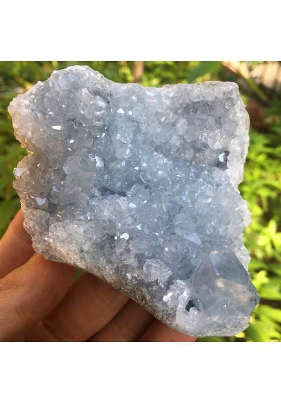 MINERALS * CELESTITE Crystal Geode MADAGASCAR 332gr Furniture High Quality-1