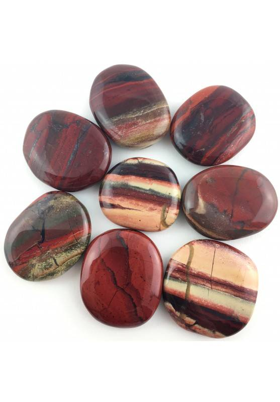 Palmstone Tumbled Stone RED Jasper Plate Crystal Healing Specimen High Quality-2