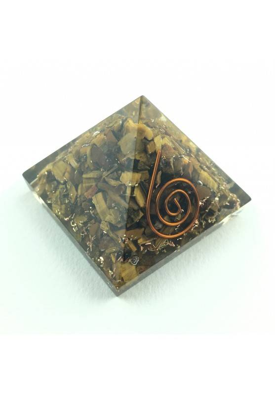 Big PYRAMID in TIGER'S EYE Crystal Healing Specimen Furniture Chakra Reiki-1