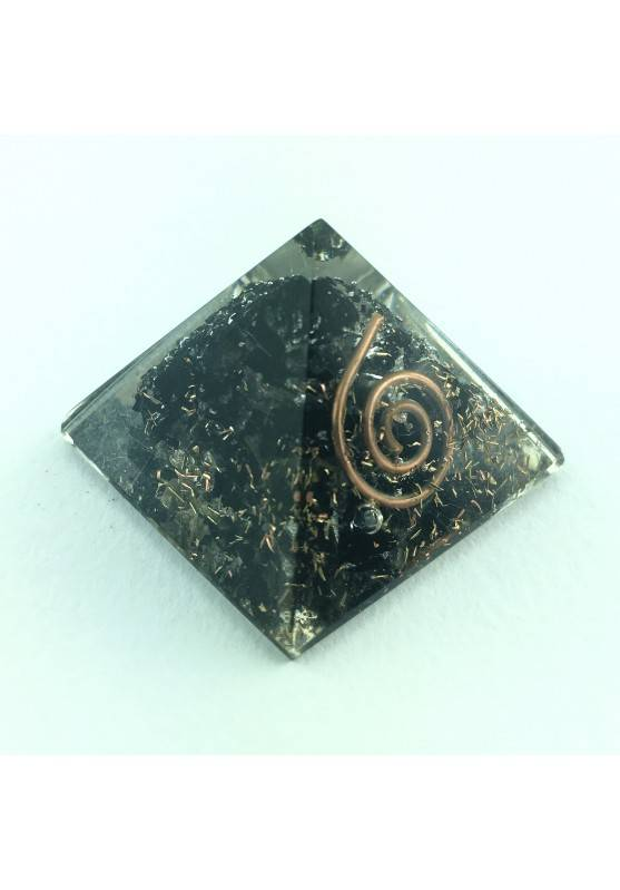 ORGONITE Pyramid Black Tourmaline Small No Electromagnetic waves Crystal Healing-1