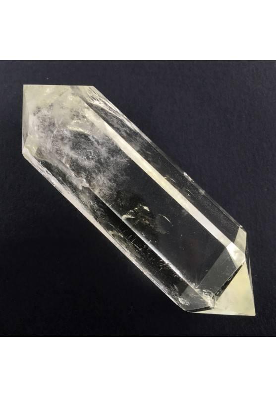 Ottimo BITERMINATO QUARZO IALINO Qualità Extra Cristalloterapia Collezionismo-1