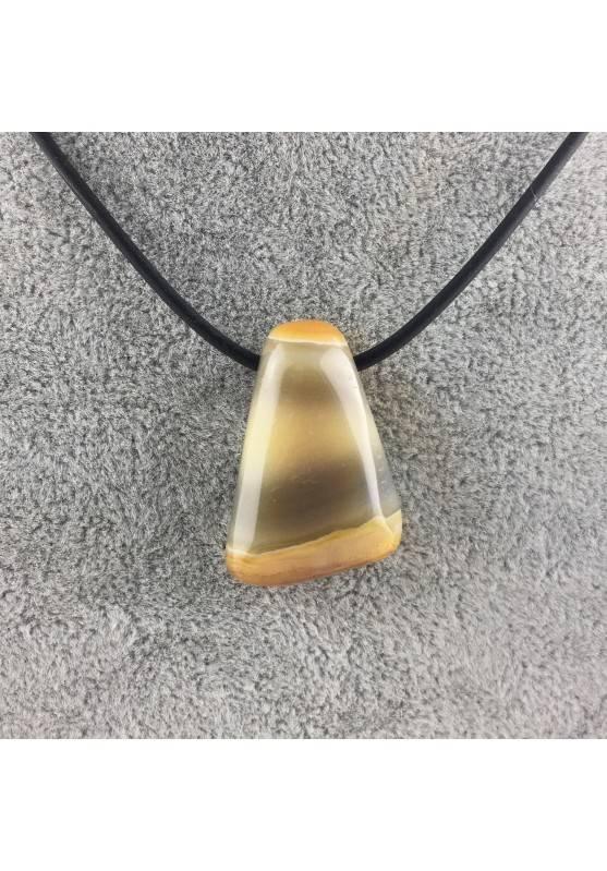 Pendant drop CARNELIAN AGATE Necklace Crystal Healing Zodiac Minerals-1