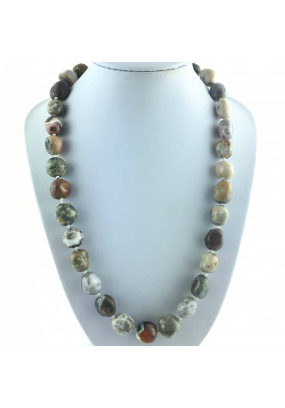 copy of Tumbled Necklace of Orbicular Ocean JASPER Crystal Healing Chakra Reiki Zen-1