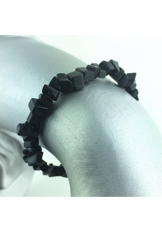 Bracelet flakes Black ONIX Tumbled Stone Crystal Healing Chakra Reiki-1