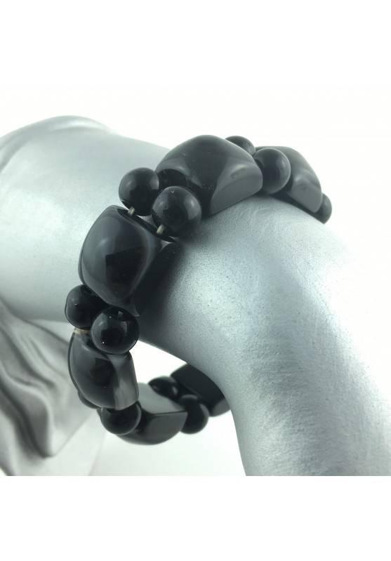 Bracelet Eye's Buddha Black Agate Crystal Healing High Quality Zodiac Minerals-1